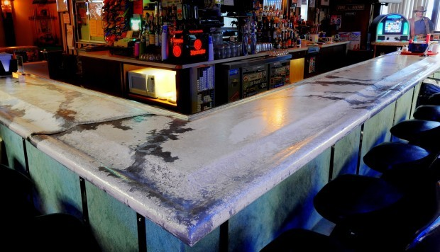 How to make concrete bar top images for How to build a bar top