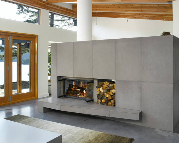 Concrete Fireplace - Michigan