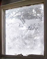 Ice Inside Window