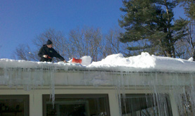 Roof Ice Dam Removal