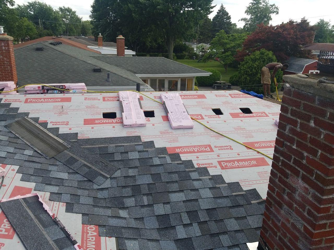 Warren Michigan Roof Replacement - In Progress (1)