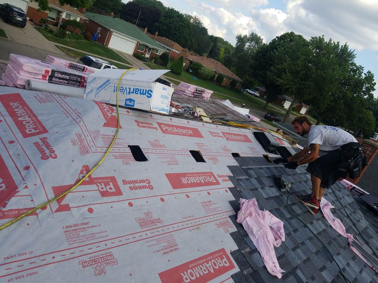 Warren Michigan Roof Replacement - In Progress (3)