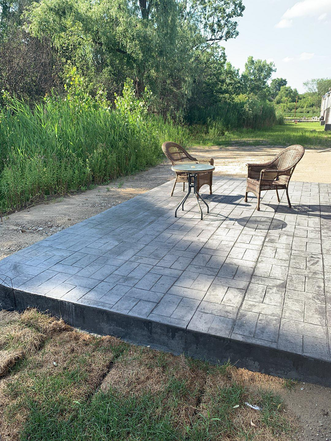 Troy Michigan Stamped Concrete Patio 2