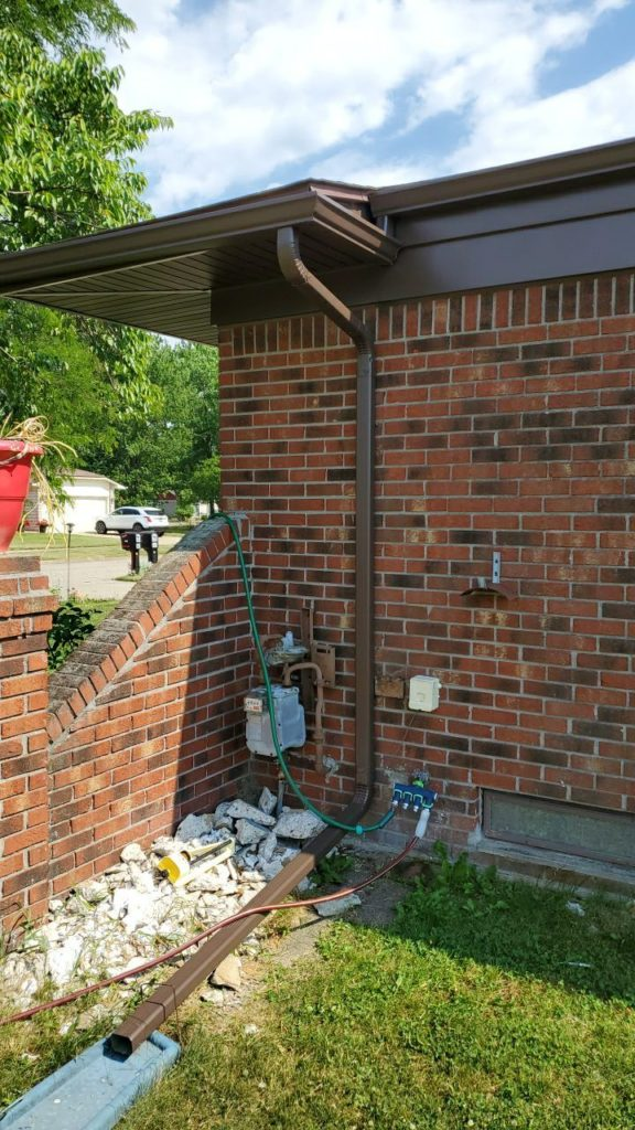Canton Michigan Downspout Installer