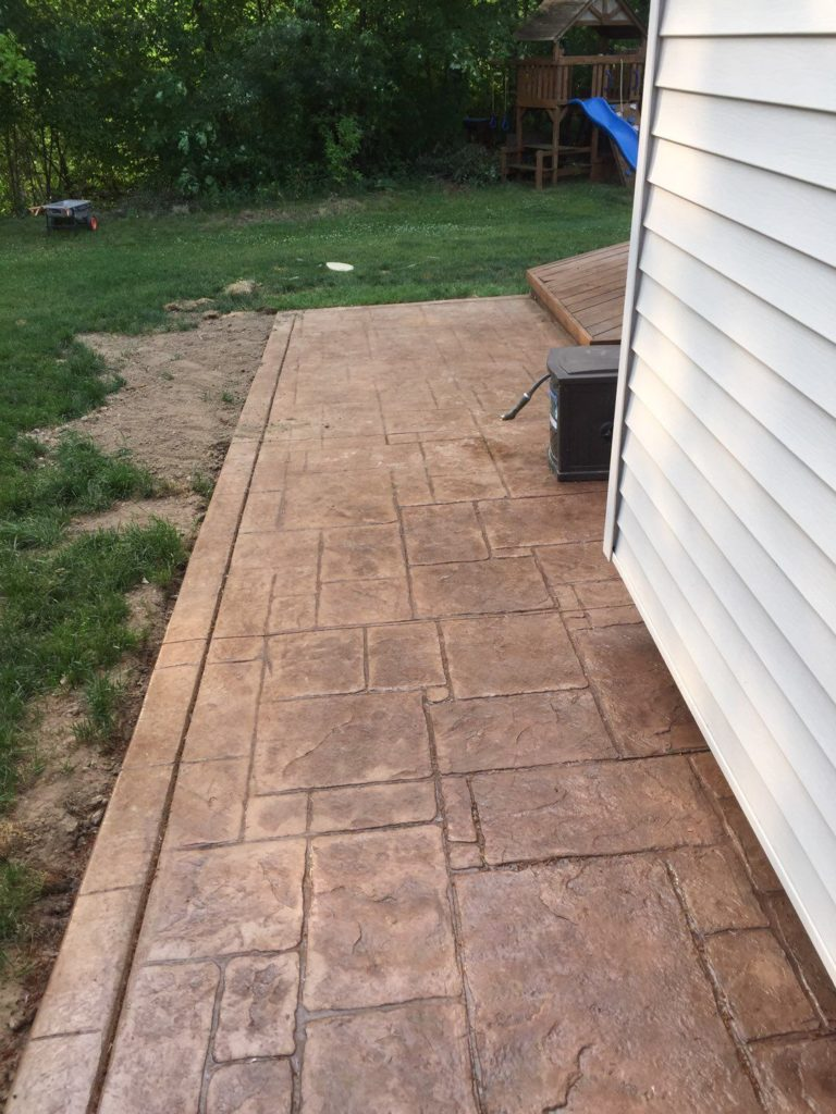 Commerce Township Stamped Concrete