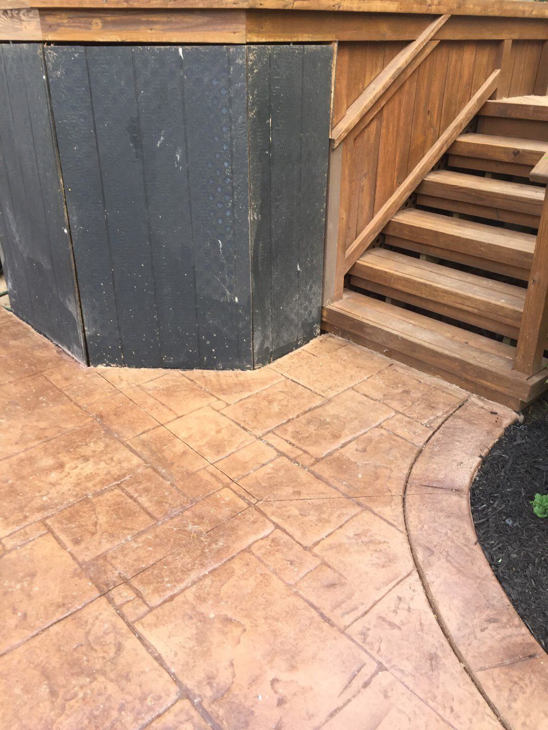 Commerce Township Stamped Concrete Patio