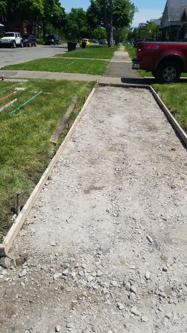 Detroit Michigan Concrete Sidewalk Torn Out
