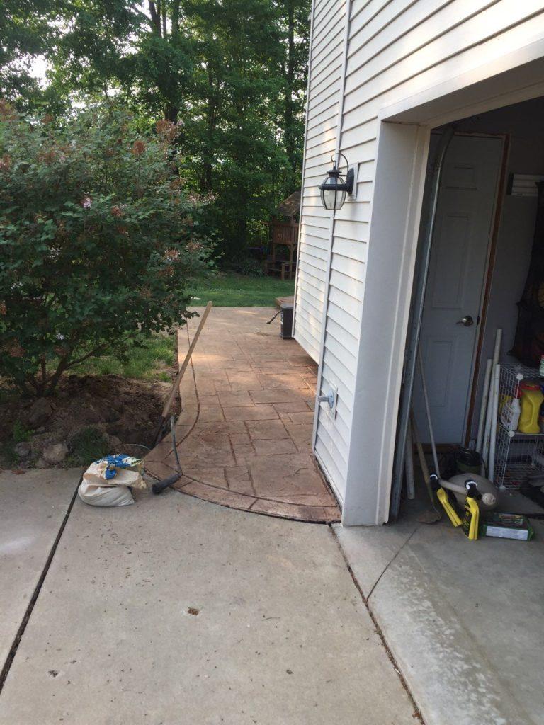 Michigan Stamped Concrete Patio